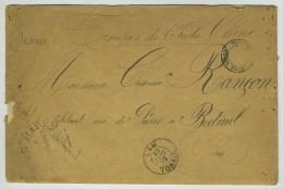 Cachets Corps Expéditionnaire Du Tonkin + Poste De Mai-Xu + Lam / Lettre 1892 Pour Breteuil. Voir Texte. 10e De Marine. - Bolli Manuali