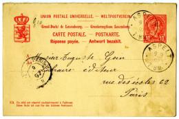 Carte Duché Du Luxembourg 1897 - Autres