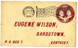 Enveloppe Envoyée De New-York Au Kentucky 1896 - Lettres & Documents