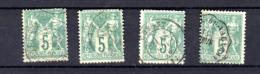 5c N Sous B   Sage,  4 Ex Du 64 Ø, Cote 200 €, Belles Ø  Cusset  Ambulant ... - 1876-1878 Sage (Typ I)