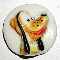 Disney -Pluto- Fève Plate (W) - Disney
