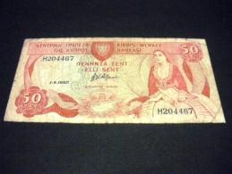 CHYPRE 500 Mils 01/04/1987 ,pick  N° KM 52 , CYPRUS - Chypre