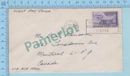 - FDC Ppj -  Universal Postal Union - 10¢ USA Stamp Cover New Orleans LA. 1949  Via Air Mail - Poste