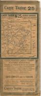 CARTE-ROUTIERE-TARIDE-Vers 1930--N°-25-ALSACE LORRAINE-Pas De PLIS Coupés-TBE-RARE - Cartes Routières