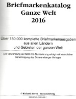 BOREK Ganze Welt A-Z Briefmarken Katalog 2016 Neu 30€ Mit MICHEL # Catalogue Stamps Of The World A CH D F GR I L P SF TK - Telefonkarten