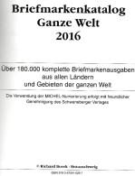 BOREK Ganze Welt A-Z Briefmarken Katalog 2016 Neu 30€ Mit MICHEL # Catalogue Stamps Of The World A CH D F GR I L P SF TK - Zubehör