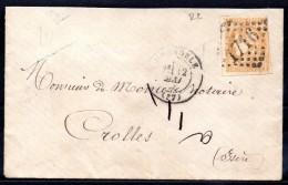 SIEGE DE PARIS - YT N° 43B Sur Lettre - Cote: 220,00 € - 1870 Bordeaux Printing