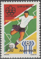 """URUGUAY 1406 Marke Aus Block !!! """"Fußball-Weltmeisterschaft Argentinien 1978"""" MNH / ** / Postfrisch - Uruguay"""