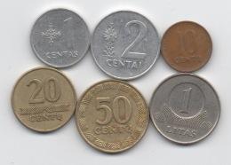 Lituanie : Série De 6 Pièces 1991-2002 - Lithuania