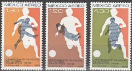 """MEXICO 1588-90 """"Fußball-Weltmeisterschaft Argentinien 1978"""" MNH / ** / Postfrisch - Mexiko"""