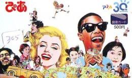Télécarte Japon *  * MARILYN MONROE (305)  Vedette De Cinéma * Japan Movie Star Phonecard * Kino TK - Film