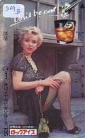 Télécarte Japon *   * MARILYN MONROE (309B)  Vedette De Cinéma * Japan Movie Star Phonecard * Kino TK - Film