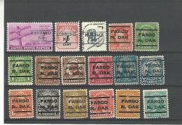 34936 ) USA Precancel North Dakota N Dak Preo Vorausentwertung - Etats-Unis