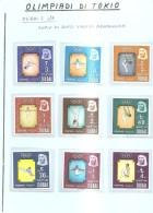 63689) Dubai-1964  Olimpiadi Di Tokio- Serie Di 9 V..-nuovi- - Dubai