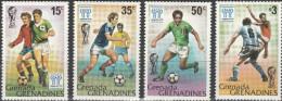 """GRENADA GRENADINEN 305-8 + Block 38(309) """"Fußball-Weltmeisterschaft Argentinien 1978"""" MNH / ** / Postfrisch - Grenada (1974-...)"""