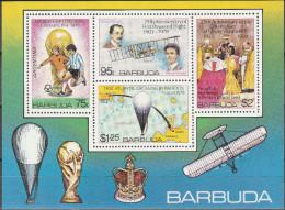 """BARBUDA 430 + Block 39(430-3U) """"Fußball-Weltmeisterschaft Argentinien 1978"""" MNH / ** / Postfrisch - Antigua Und Barbuda (1981-...)"""
