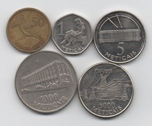 Mozambique : Lot De 5 Pièces 1994-2006 - Mozambique