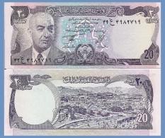 Afghanistan P48c, 20 Afghans, President Daud / Kabul River 1977 UNC - Afghanistan