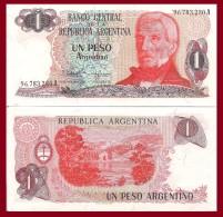 Argentina P311a. 1 Peso, San Martin / Llao-Llao Fals, Bariloche, 1983 UNC - Argentine