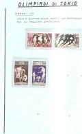63700) Gabon-1964 Olimpiadi Di Tokio Serie Di 4 V.-nuovi- - Gabon (1960-...)