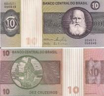 Brazil P193b, 10 Cruzeiros, D. Pedro II / Prophet Daniel, Aleijadinho, UNC - Brazilië