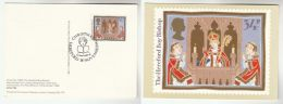 1986 GB  FDC Card  CHRISTMAS  HEREFORD BISHOP  Special Pmk CHRISTMAS HEREFORD Cover Stamps - Christmas