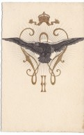 Hawk Eagle Image, Royalty? Religion? Imagery, C1900s Vintage Postcard - Birds