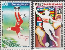 """TUNESIEN 930-1 """"Fußball-Weltmeisterschaft Argentinien 1978"""" MNH / ** / Postfrisch - Tunesien (1956-...)"""