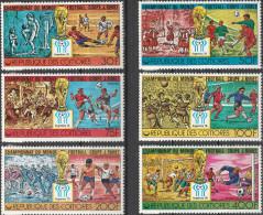 """KOMOREN 384-9 """"Fußball-Weltmeisterschaft Argentinien 1978"""" MNH / ** / Postfrisch - Komoren (1975-...)"""