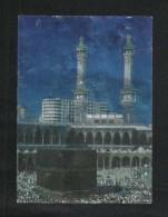 Saudi Arabia Silver Shining Picture Postcard Holy Mosque Ka´aba Mecca Islamic View Card CONDITION AS PER SCAN - Arabie Saoudite