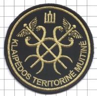 Ecusson / Patch / Toppa / Parche. Lithuania.  Europe. EU. Customs. Douane. Aduana. Zollamt. Port Klaipeda - Police