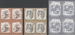 """AUSTRIA Komplett In 4-Block 1586-1601+1644+1741-2+1761+1681+1727 """"Schönes Österreich"""" MNH / ** / Postfrisch - 1945-.... 2. Republik"""