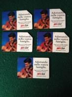 5 Schede Telefoniche Catalogo Golden Nr 365-369 Telefonino Da 5000,10000 E 15000 SIP - Pubbliche Figurate Ordinarie