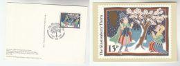 1986 GB FDC (card)  SPECIAL Pmk GLASTONBURY THORN, TREE  Pmk CHRISTMAS Stamps  Cover Religion - Christmas