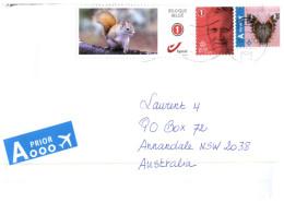 (300) Belgium To Australia Cover - Ecureuil - Squirrel Stamp - Timbres