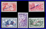 FRENCH INDIA 1941 FRANCE LIBRE ON PARIS EXPO ISSUES SC# 136-139 VF MNH (4D017) - India (1892-1954)