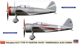 Nakajima Ki27 Type 97 Fighter ( Nate ) Nomonghan Aces Combo 1/72 ( Hasegawa ) - Airplanes