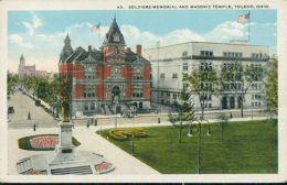 US TOLEDO / Soldiers Memorial And Masonic Temple / CARTE COULEUR - Toledo