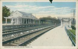 US VALLEY FORGE / Reading R R. Station / CARTE COULEUR - Etats-Unis