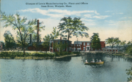 US WALPOLE / Glimpse Of Lewis Manufacturing Co. Plant And Offices From River / CARTE COULEUR - Autres