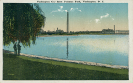 US WASHINGTON DC / Washington City From Potomac Park / CARTE COULEUR - Washington DC