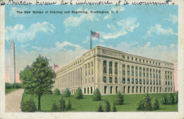 US WASHINGTON DC / The New Bureau Of Printing And Engraving / CARTE COULEUR - Washington DC