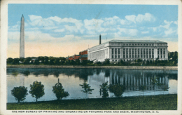 US WASHINGTON DC / TheNew Bureau Of Printing And Engraving On Potomac Park And Basin / CARTE COULEUR - Washington DC