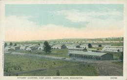 US WASHINGTON DC / Officer's Quarters, Camp Lewis, American Lake / CARTE COULEUR - Washington DC