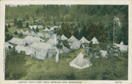 US WASHINGTON DC / Hospital Tents, Camp Lewis, American Lake / CARTE COULEUR - Washington DC