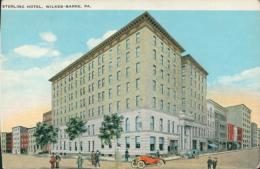 US WILKES BARRE / Sterling Hotel / CARTE COULEUR - Etats-Unis