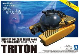 Deep Sea Explorer Submarine Triton  1/48 (  Aoshima ) - Boats