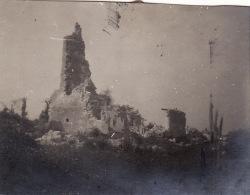 Photo 1916 HENNEMONT (près Etain) - Les Ruines De L'église (A142, Ww1, Wk 1) - France