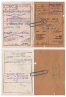 Lot 2 Titres Transport Inter  Allemagne, Luxembourg Belgique France  1954 - Non Classés