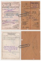 Lot 2 Titres Transport Inter  Allemagne, Luxembourg Belgique France  1954 - Titres De Transport